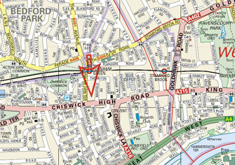 Chiswick Notary | Edward Young -Map