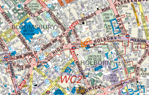 Holborn Notary | Edward Young -Map