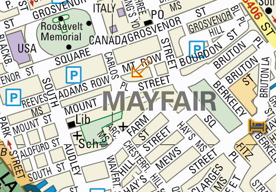 Notary Public London | Edward Young -Map